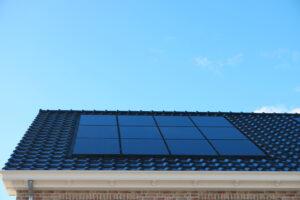solar panels on slanted roof